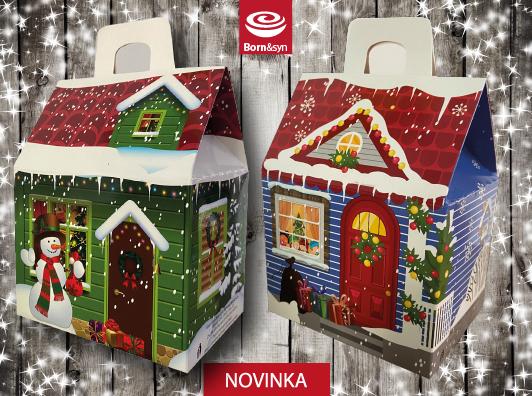 Vánoční novinky – Domečky plné čokoládových figurek